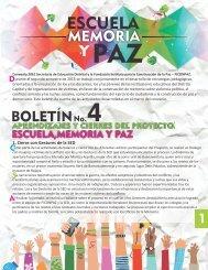 Escuela Memoria y Paz - Boletín 4