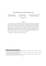 Deep Recessions and Slow Recoveries