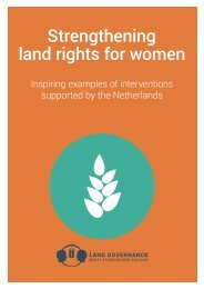 Strengthening land rights for women