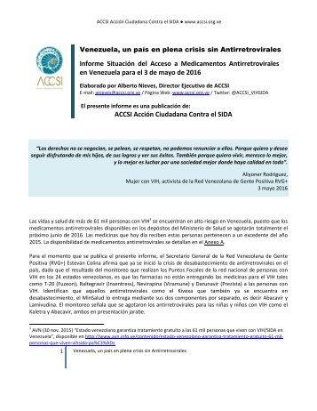 ACCSI-Informe-situación-acceso-a-antirretrovirales-en-Venezuela-para-3-mayo-2016