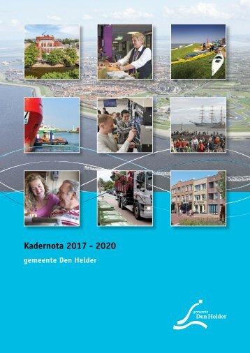 Kadernota 2017 - 2020
