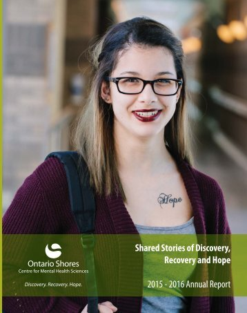 Recovery and Hope 2015 - 2016 Annual Report