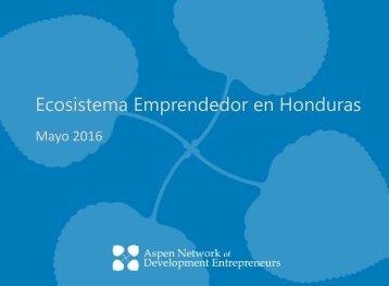 Ecosistema Emprendedor en Honduras