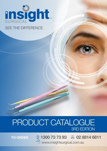 Insight Surgical Product Catalogue - 3rd Edition
