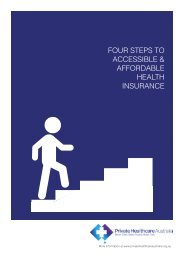 FOUR STEPS TO ACCESSIBLE & AFFORDABLE HEALTH INSURANCE