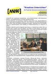 Kreatives Unterrichten - IMST