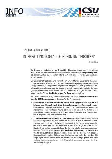 Info-Dienst Asylpolitik Integration