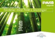 Tubman Miljöfolder, Hållbar utveckling, fördelar med PAM's lösningar