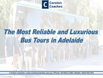 Bus Tours in Adelaide Organized by Professionals