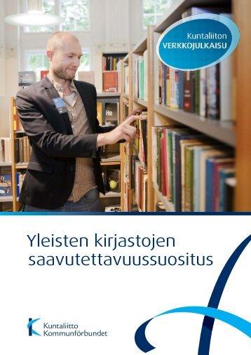 Yleisten kirjastojen saavutettavuussuositus