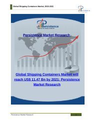 Global Shipping Containers Market, 2015-2021