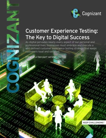 Customer Experience Testing The Key to Digital Success