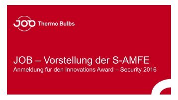 2016-Juni JOB GmbH - S-AMFE  SECURITY Award_1