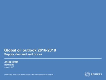 Global oil outlook 2016-2018