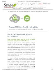 Get Accurate Amazon EC2 Customer Lists from Span Global Services