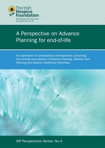 A Perspective on Advance Planning for end-of-life