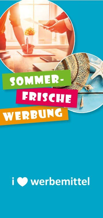 Sommerfrische Werbung