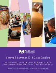 Spring & Summer 2016 Class Catalog
