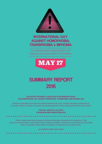 SUMMARY REPORT 2016
