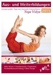 »Yoga Aus- und Weiterbildung 2015«