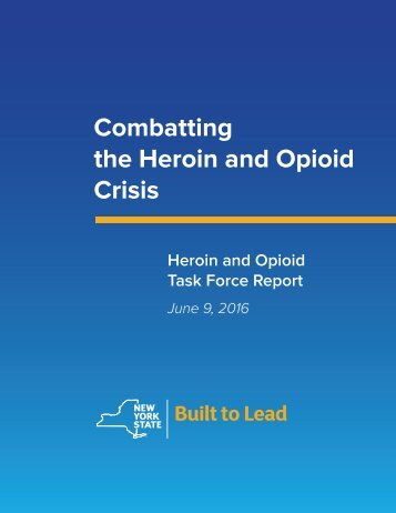 Combatting the Heroin and Opioid Crisis
