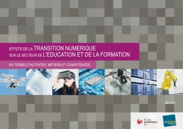 TRANSITION TRANSITION NUMERIQUE NUMERIQUE L'EDUCATION ET DE LA FORMATION XXXX