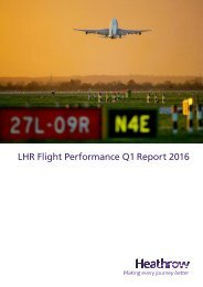 LHR Flight Performance Q1 Report 2016