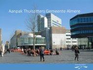 Aanpak Thuiszi-ers Gemeente Almere
