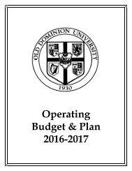 Operating Budget & Plan 2016-2017