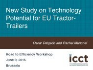 New Study on Technology Potential for EU Tractor- Trailers