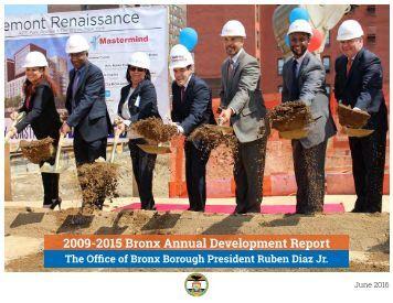 2009-2015 Bronx Annual Development Report