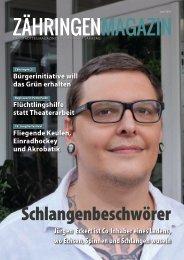 Zähringen Magazin, Juni 2016