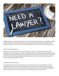Singapore Lawyer: When do you need a lawyer?