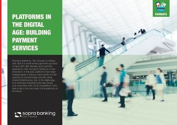 THE DIGITAL AGE BUILDING PAYMENT SERVICES