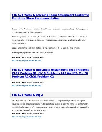 fin 571 week 3 lawrence sports simulation fin 571 week 3 learning team lawrence sports simulation to purchase this material click below link h.