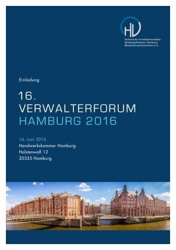 16 VERWALTERFORUM HAMBURG 2016