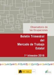 Boletín Trimestral del Mercado de Trabajo Estatal