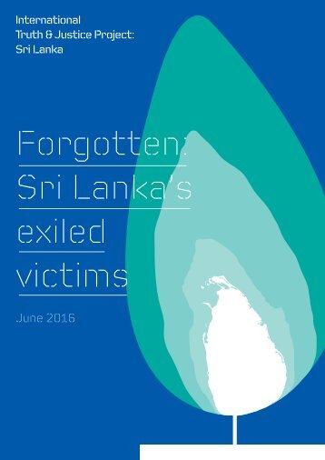 Forgotten Sri Lanka's exiled victims