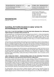 """PRESSEMITTEILUNG Ausstellung """"Die Friedliche Revolution in ..."""
