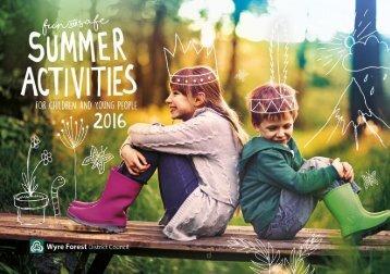 WFDC Summer Activities 2016