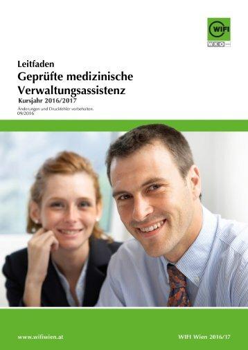 Leitfaden: Geprüfte medizinische Verwaltungsassistenz