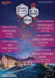 Stars in Town 2016 - Programmheft