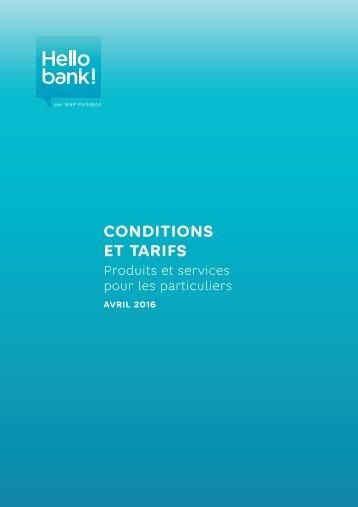 CONDITIONS ET TARIFS