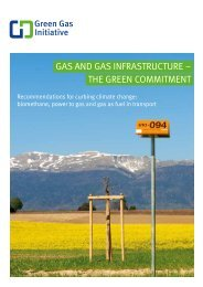 Gas and Gas Infrastructure – the green commitment