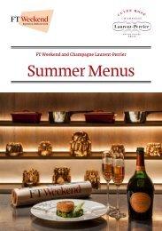 Summer Menus