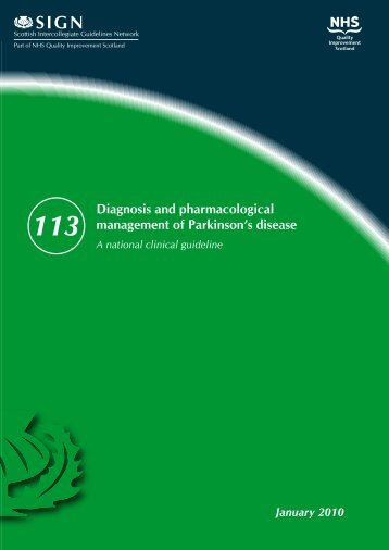 Diagnosis and pharmacological management of Parkinson's - SIGN
