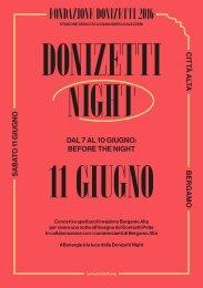 DONIZETTI NIGHT 11 GIUGNO
