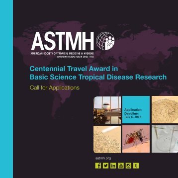 Centennial Travel Award in Basic Science Tropical Disease Research
