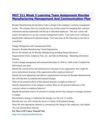 mgt 311 employee portfolio motivation action plan Chapter 6 provides a more focused discussion of the overall planning process and a new discussion of using strategy ing about motivational tools for today, including an expanded treatment of employee engagement the chapter this call to action further engages students in the chapter con- tent some of the take a.