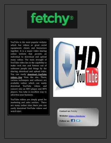Free YouTube videos download online